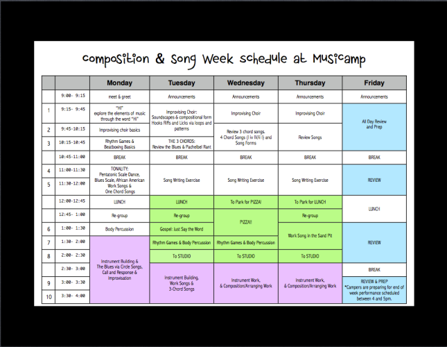 Comp & Song 2014 Sched