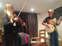 Workshopping their instruments for the first time.