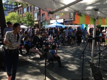 Crowds gathered to see and hear the talented youth of our Dundas West community